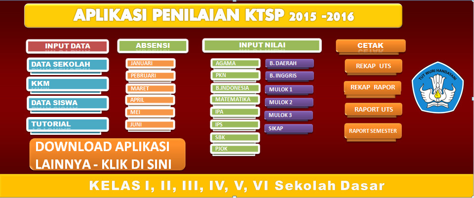 Download Aplikasi Penilaian KTSP SD/MI 2015-2016 Terbaru