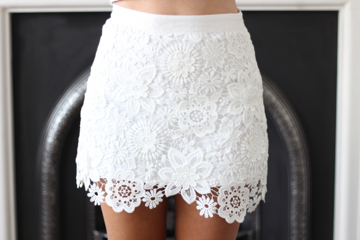 White Crochet Skirt Cream Topshop Petite How to Style