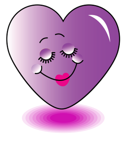 Pretty purple heart icon