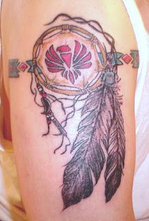 arm dream catcher tattoos