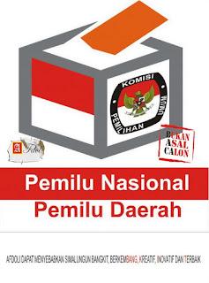 Jadwal Pemilu serentak Nasional dan Daerah seutuhnya