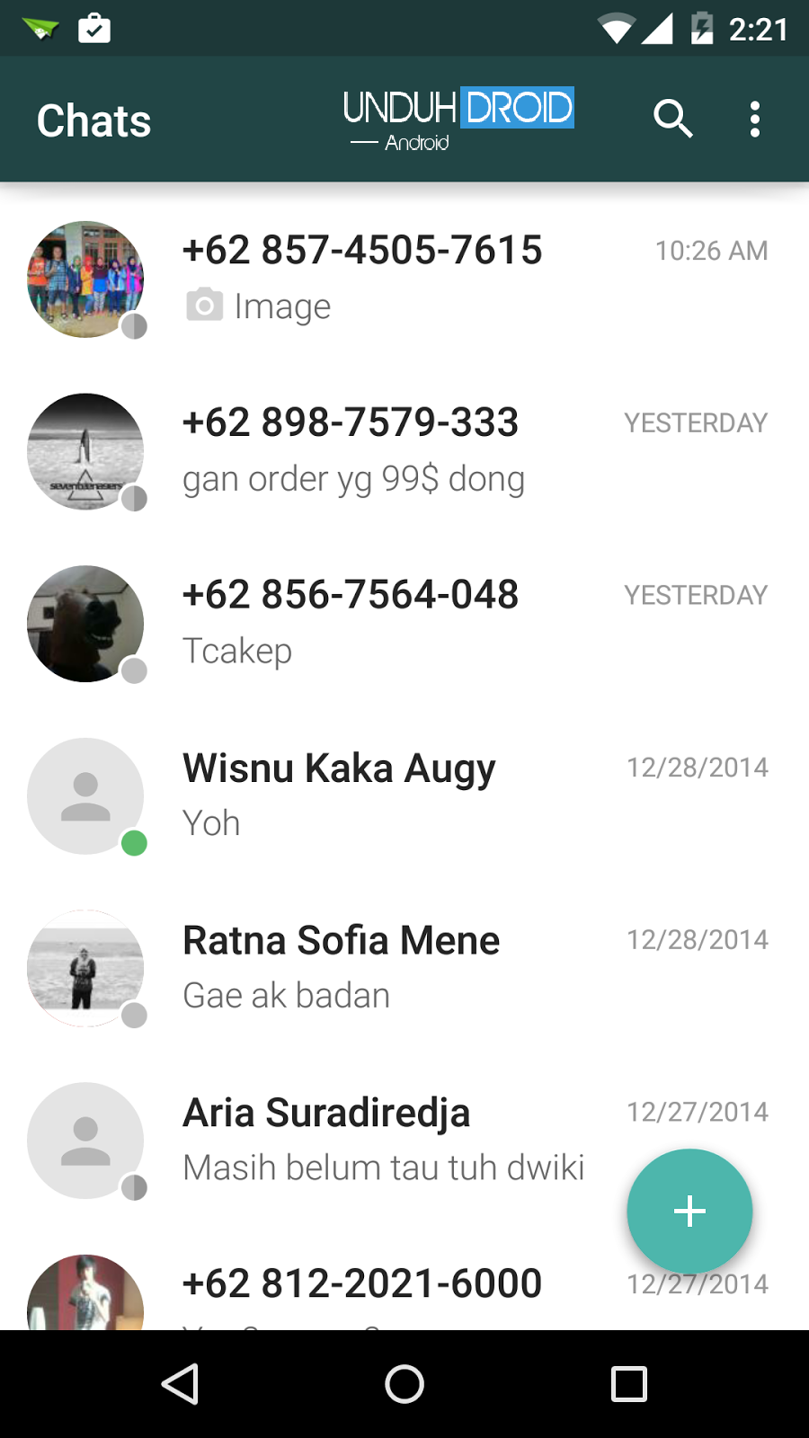 Download WhatsApp Material Design Android