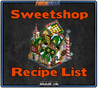 Sweet Shoppe Recipe List