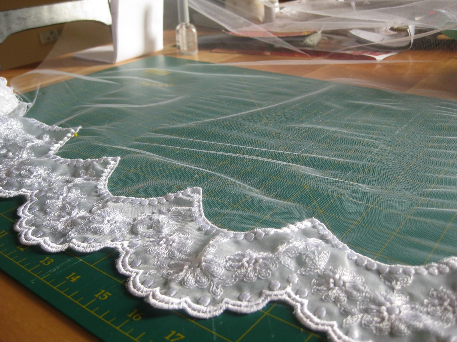 Making A Mantilla Wedding Veil