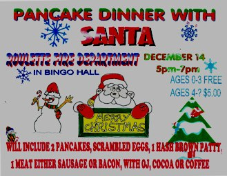 12-14 Pancake Dinner With Santa