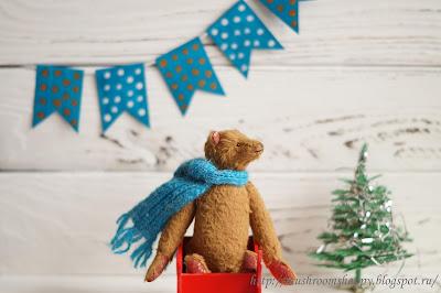 прокачусь с ветерком, sled, teddy bear, New Year