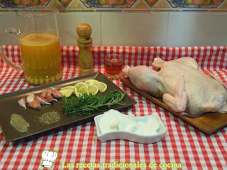 Receta fácil de pollo horno