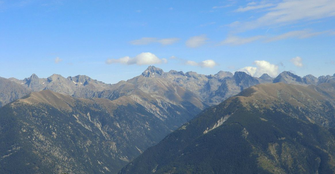 Gélas viewed from Caïre Gros