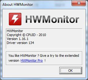 برنامج مراقبة القطع المرتبطة بالحاسوب HWMonitor