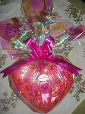 Chocolate Recheado no formato de coração.