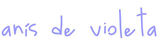 anís de violeta