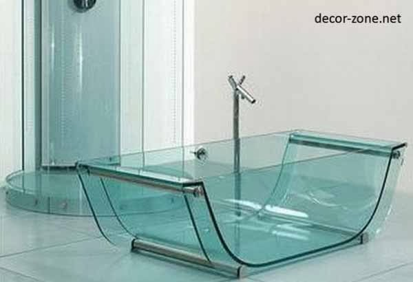 Bathroom Designs With Glass Bath  Modern Diy Art Designs -> Cuba De Banheiro Jacuzzi