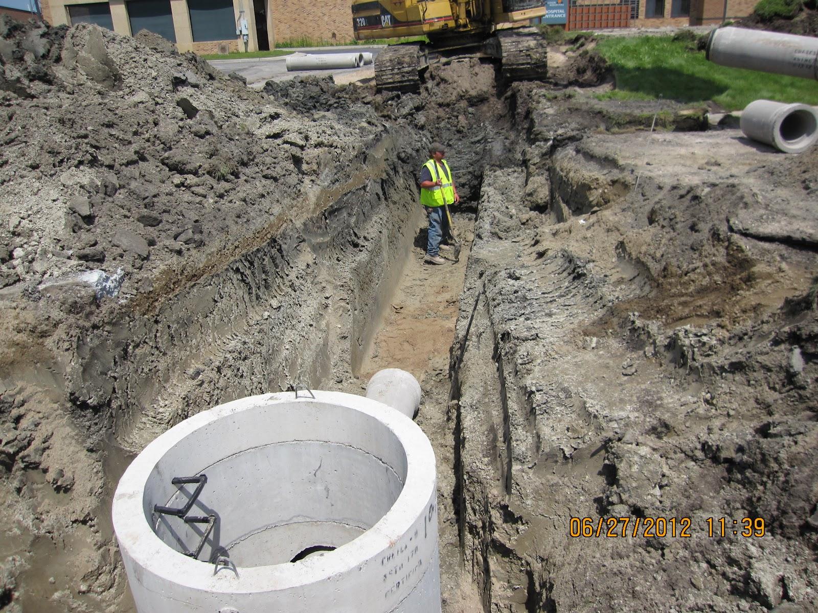Concrete Storm Sewer : Cook hospital construction