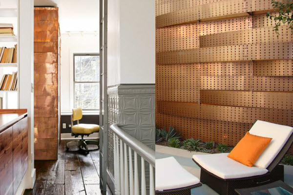 Eye for design decorating your interiors with copper for Copper interior design