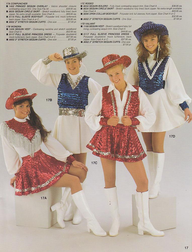 Cheerleading uniform vintage