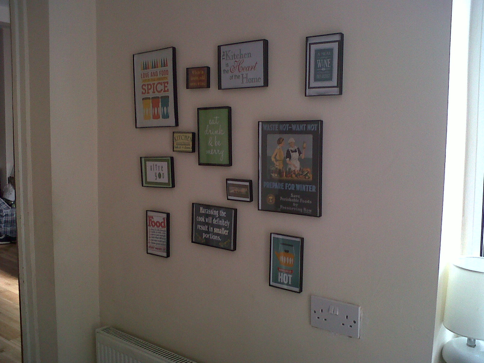 Lyndsey little treasures kitchen wall display finally for Kitchen display wall