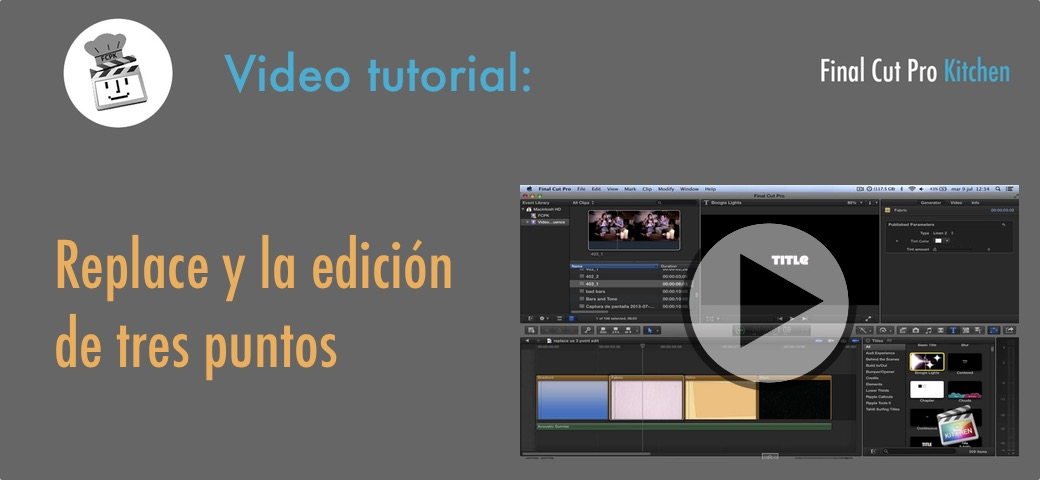 FCP X replace tutorial
