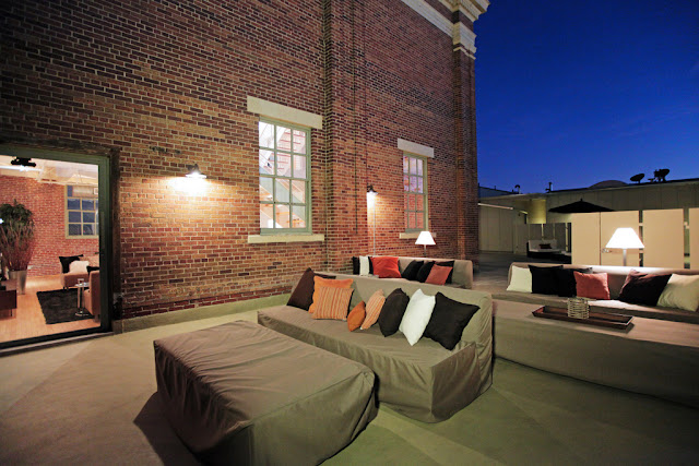 Photo of garden furniture on the penthouse terrace