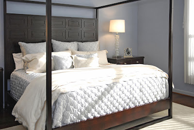 modern white pillar bed that fit two is elegant in all white upholstery