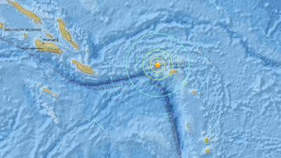 Epicentri sismo islas Salomon 18 de Julio 2015