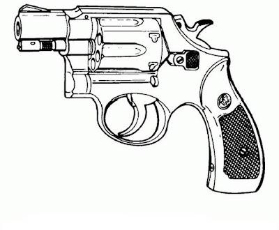 colorear y pintar, Dibujo de de armas para colorear y pintar, Dibujos