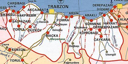 Trabzon Siyasi Haritas�