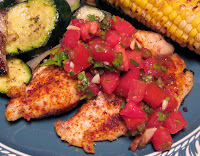 Mexican grilled tilapia with salsa