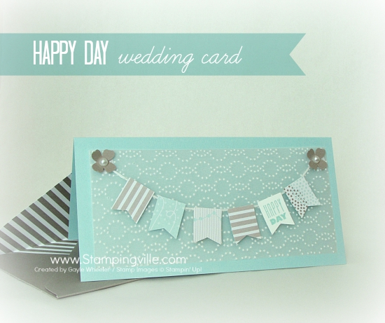 Happy Day Wedding Card with custom coordinating envelope photo image
