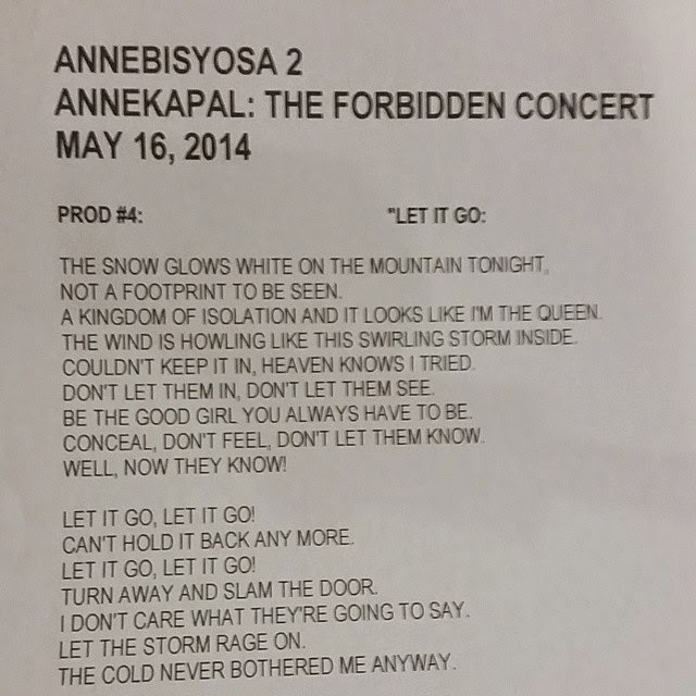 Anne Curtis is set to sing Let it Go an oscar award winning themesong, at ANNEBISYOSA 2 Concert