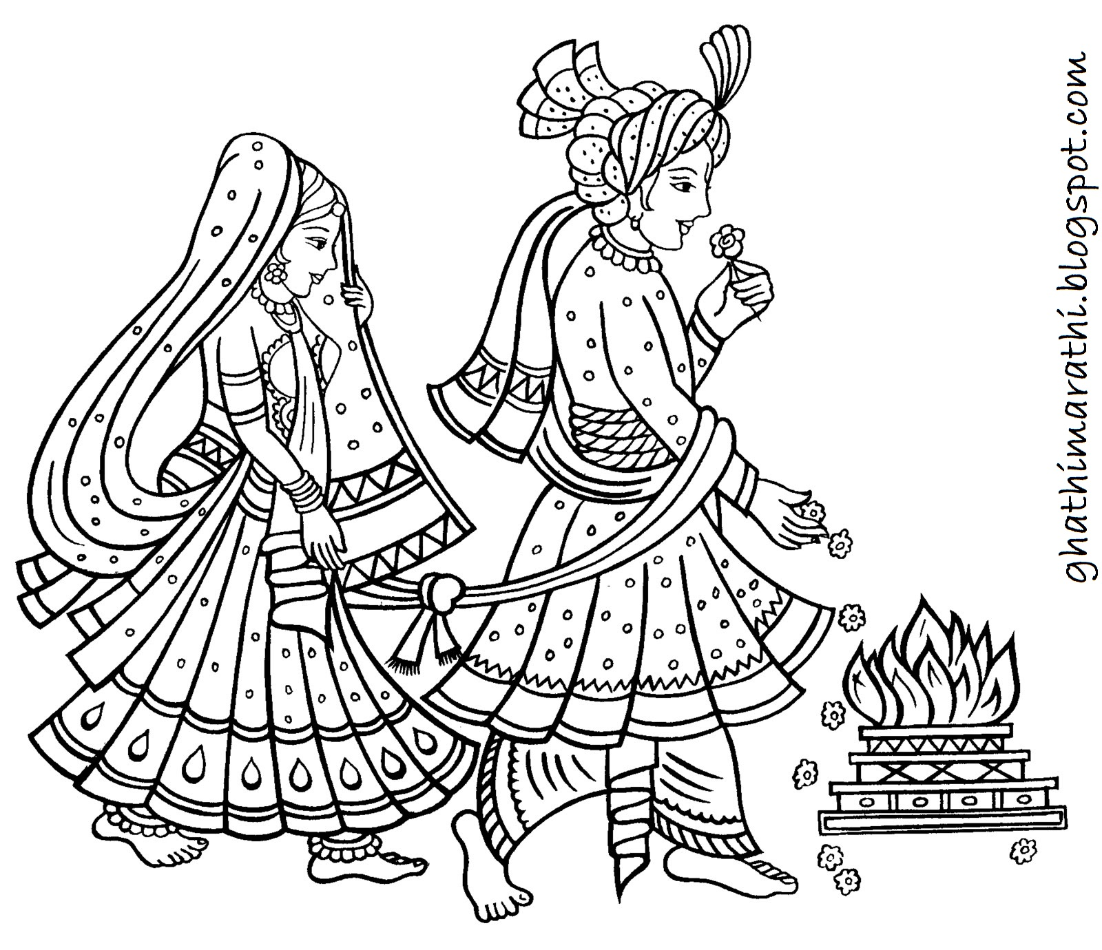 Wedding Card Line Art Designs : Designs of marathi lagna patrika for wedding