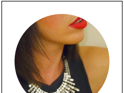Festive extras - red lips and necklace layering