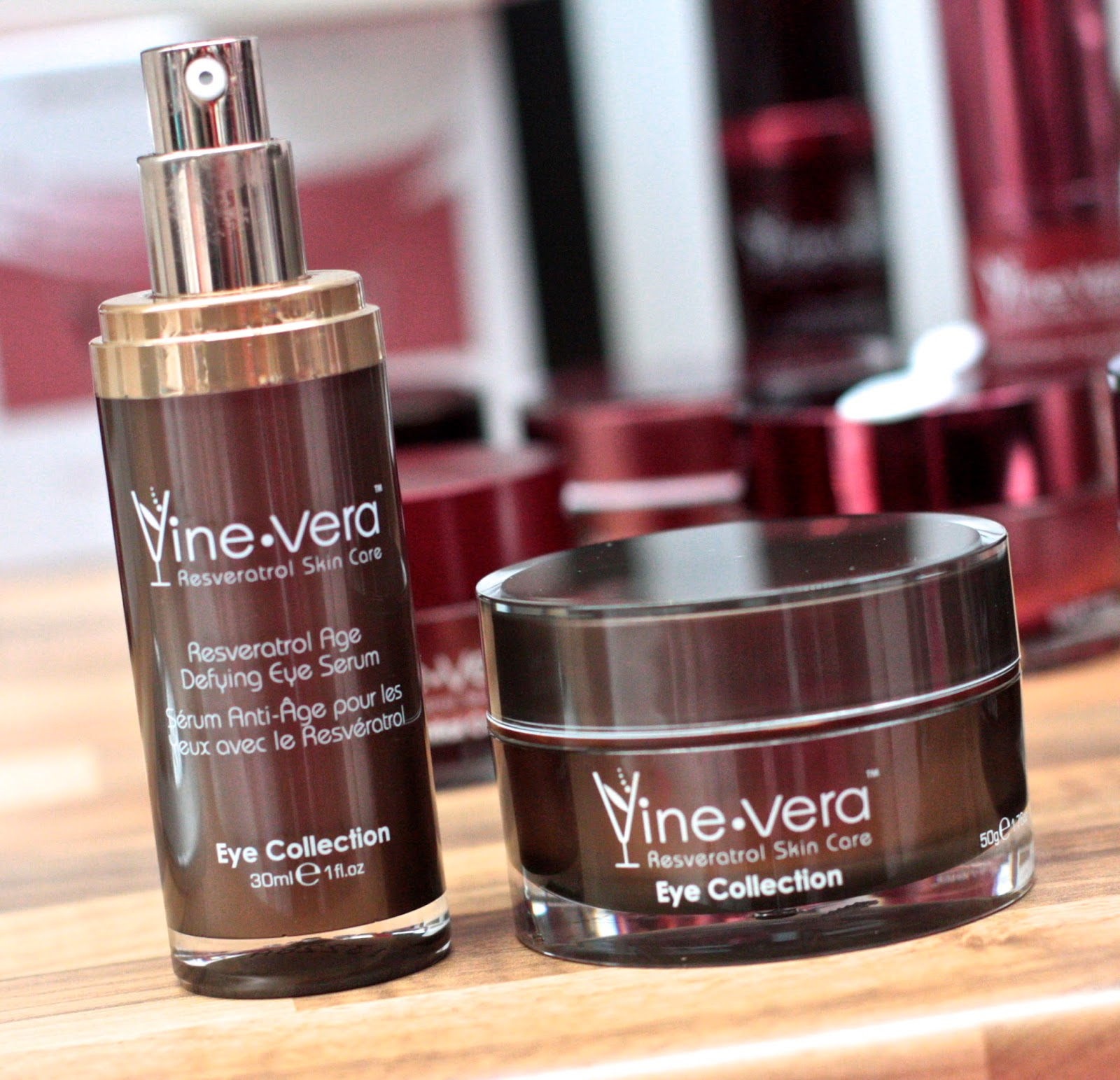 VineVera cream and serum at the Anti-ageing show