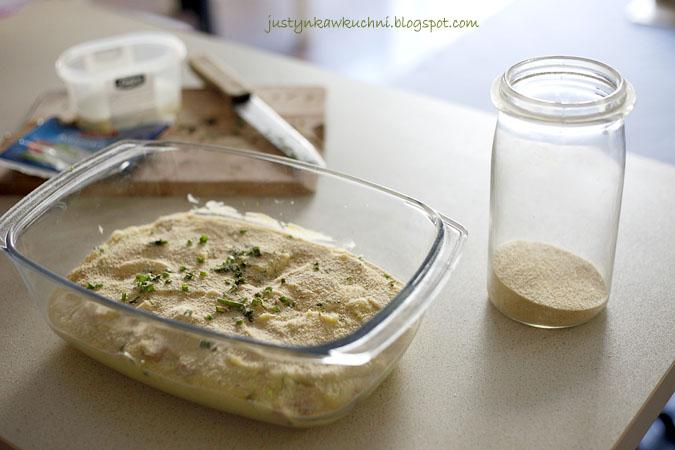 ziemniaki, mozzarella, szczypiorek, szynka, Obiad, puree, Włoska kuchnia, ziemniaczane, przepis, Dania zapiekane w piekarniku,