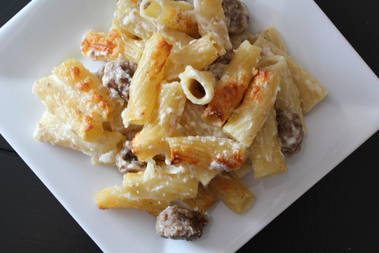 Baked Rigatoni With Tiny Meatballs Recipe — Dishmaps