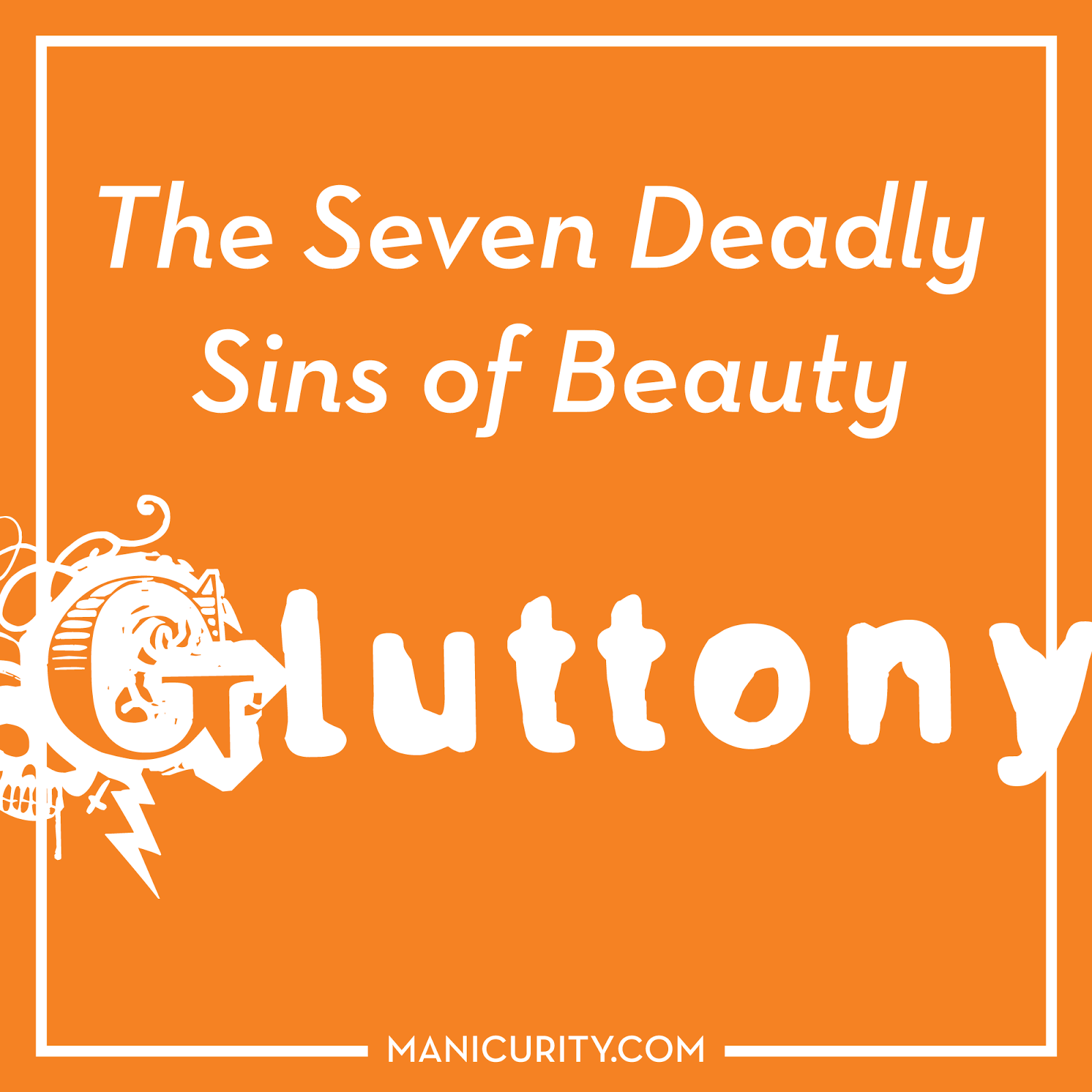 The Seven Deadly Sins of Beauty Tag - Gluttony = MAC lipsticks and dotticures | Manicurity.com