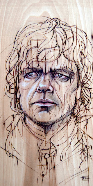 Tyrion Lannister Print on Wood by Fay Helfer