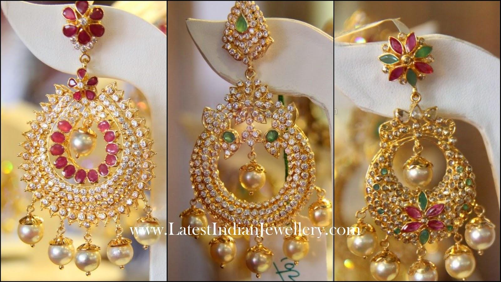 Latest Designer Heavy Chand Bali Earrings Latest Indian