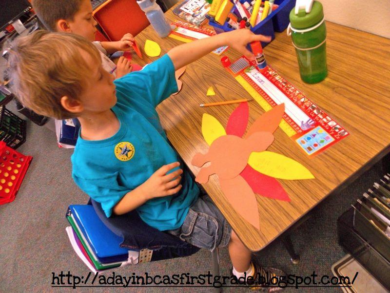 Thanksgiving art activities for first grade thanksgiving for Turkey crafts for first grade