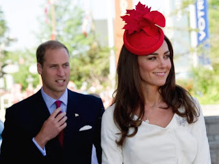 William and Kate, the Duke and Duchess of Cambridge, arrive at a citizenship ceremony in Gatineau, Quebec, Canada, on July 1, 2011. The royal couple watched new citizens take the oath of citizenship, in which new Canadians pledge allegiance to the Queen, who is William's grandmother.