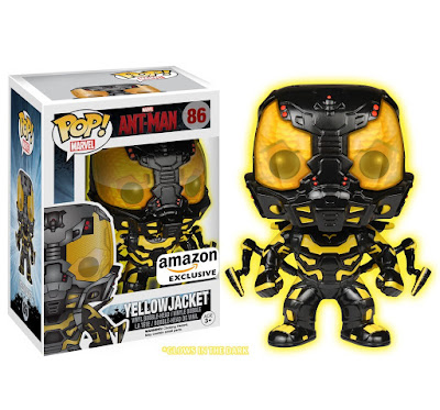 Amazon Exclusive Glow in the Dark Yellowjacket Ant-Man Movie Pop! Marvel Vinyl Figure by Funko