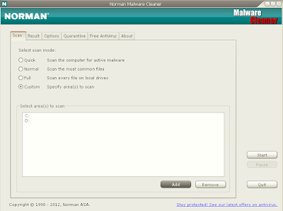 Norman Malware Cleaner v2.6.1.0 [Octubre 2012]