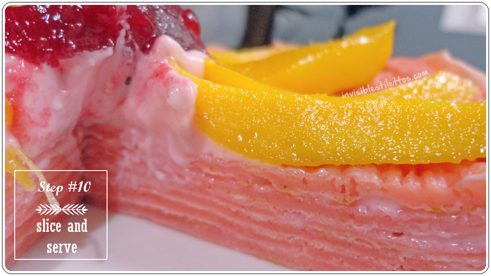 Strawberry Mango Crepe Cake