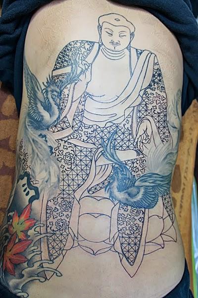 阿弥陀如来  和彫り 刺青 タトゥー TATTOO