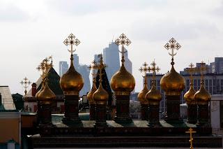 Centro financiero desde el Kremlin, Moscú