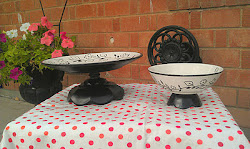 Black and White Flowery Platter (SOLD)