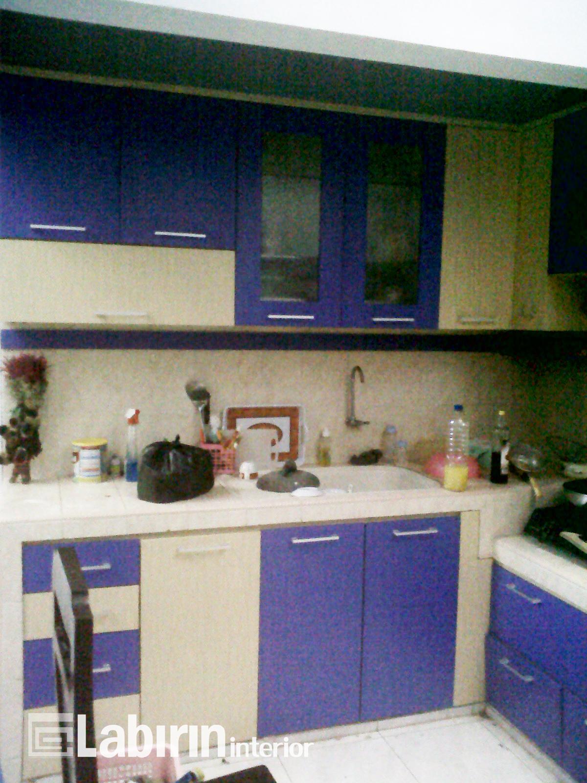 Kitchen set malang gold purple mbak shella malang for Harga kitchen set surabaya