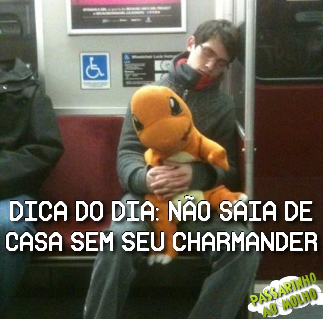 charmander, pokémon, metrô