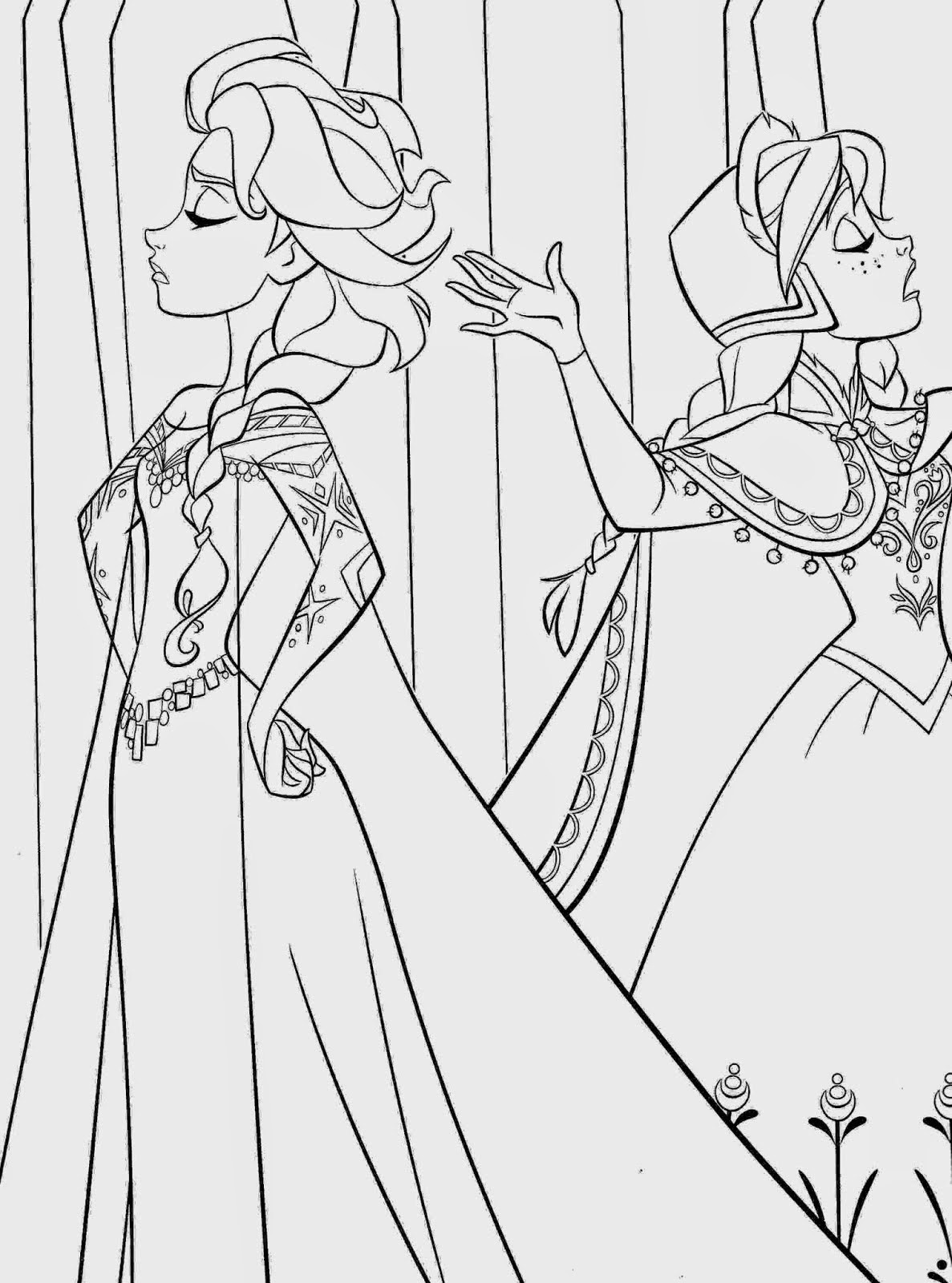 17 best beautiful coloring pages frozen ready to print for Elsa frozen coloring pages