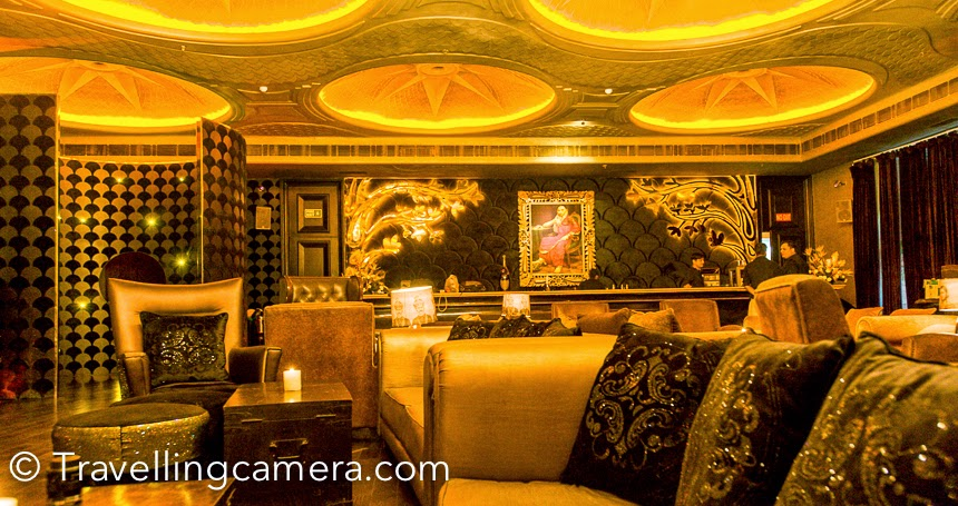 Few years back, one of my Photographer friends got this assignment to shoot LAP club in Hotel Ashoka. It was the time when club was renovated to host F1 party. Bollywood actor Arjun Rampal owns this club. This Photo Journey shares some of the photographs of this wonderful place in Delhi.LAP is an exclusive club which welcomes the members and it's memebership is invite only, and which is hard to get (it seems). I have not visited many of the Delhi clubs but whatever I have visited, LAP club is definitely the best I experienced. But recently I noticed LAP club on Zomato,  so wondering if it's open for all. And 2K for 2 folks including drinks sound quite reasonable. Let me figure out more and shareWhen it was renovated, every small things in the club was very well thought and designed. It seemed like things places inside the club is made for that  place only. Shahrukh's wife Gauri Khan has designed some of the furniture pieces of LAP club.Few years back I had shared these photographs in a Photo Journey and now sharing again after re-processing. I love re-processing my photographs. That teach you a lot about your mistakes done in the past and give a refresher on how to avoid those mistakes in future.Some of the most exclusive night parties are organized at LAP. They frequently post their events in their facebook , so you may want to check out more details there.Here is a photograph which shows one of the entry to LAP club. There are two entries to the club. One is from Ashoka hotel lobby and another is exclusive entry for the club from main roadClub has seating arrangements outside as well. Many times, club organizes screening of Cricket or Football worldcup and these screenings happen outside.The beautiful fountain which looked absolutely stunning with these lights.There are these beautiful lamps hanging outside the club and they adds to the mode of evening at Lap club.