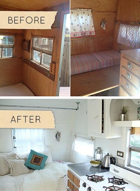 vintage camper, refab
